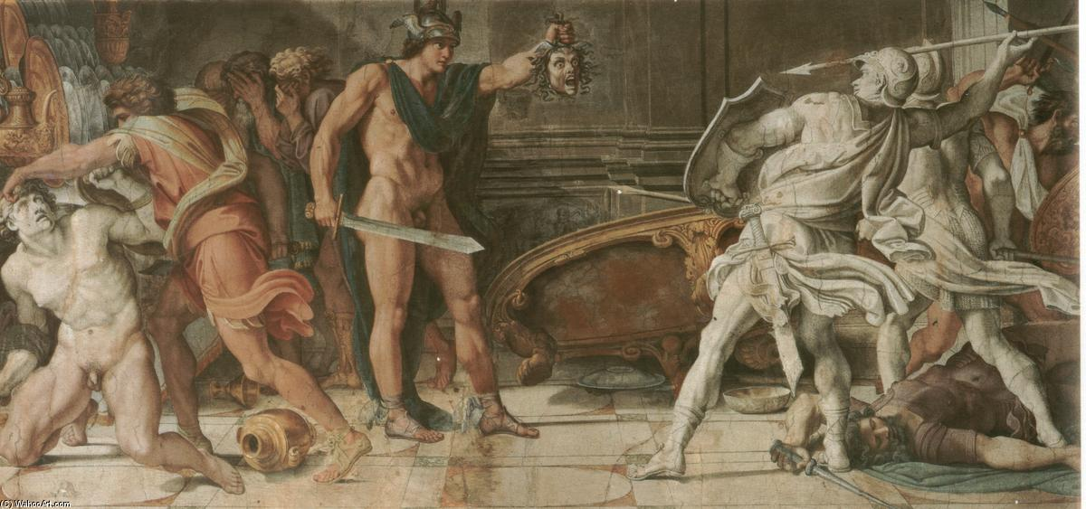 annibale-carracci-perseus-and-phineas_1597