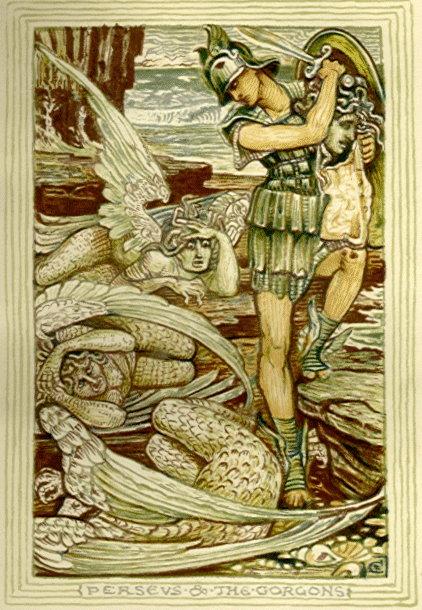 dessin-persee-et-les-gorgones